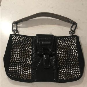 Studded Calvin Klein shoulder bag.